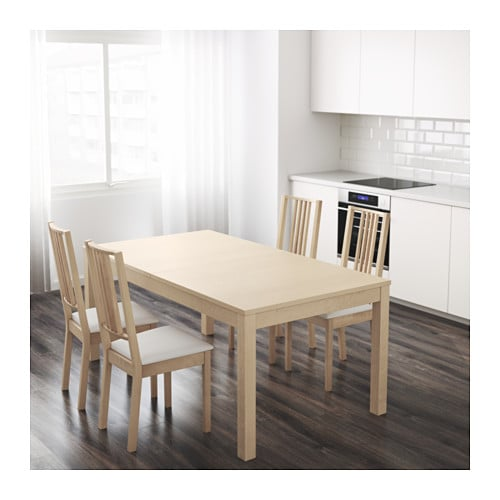 BJURSTA Extendable table IKEA Two extension leaves included.  It's quick and easy to change the size of the table to suit your different needs.