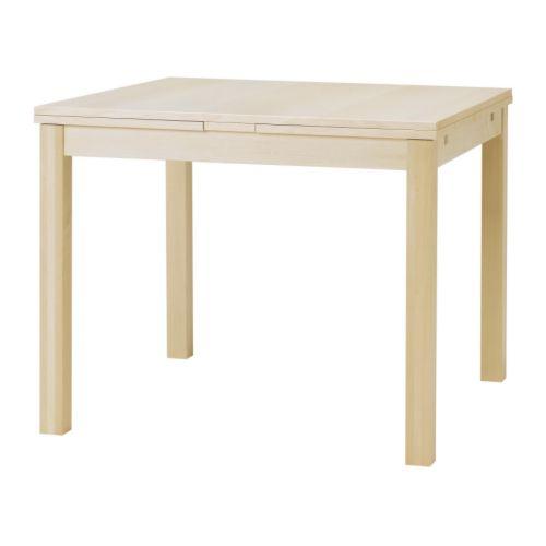 bjursta extendable table birch veneer ikea. Black Bedroom Furniture Sets. Home Design Ideas