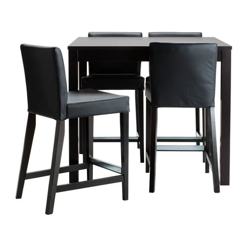 Bjursta henriksdal bar table and 4 bar stools ikea for High table and chairs ikea