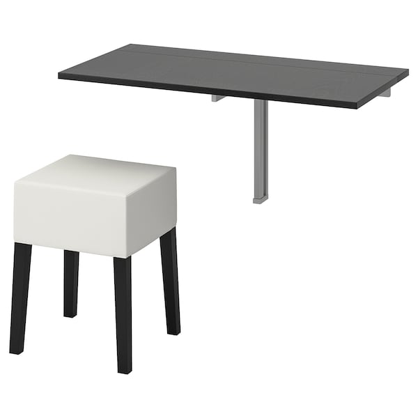Miraculous Table And 1 Stool Bjursta Nils Brown Black Blekinge White Andrewgaddart Wooden Chair Designs For Living Room Andrewgaddartcom