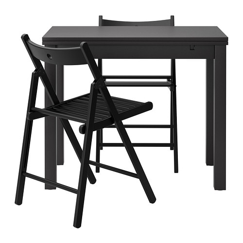 Bjursta terje table and 2 chairs ikea - Table carree ikea ...