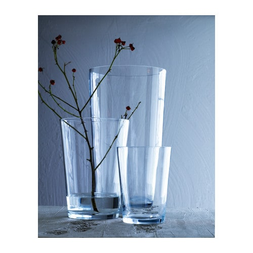 "BLADET Vase, clear glass Diameter: 7 ¾ "" Height: 11 ""  Diameter: 20 cm Height: 28 cm"