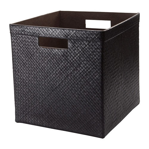 BLADIS Basket IKEA Suitable for storing your recipes, receipts, newspaper clippings and photos.  Easy to pull out and lift as the basket has handles.