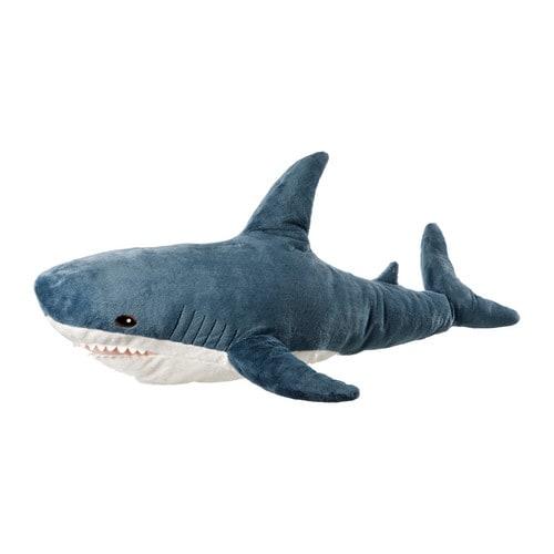 BLÅHAJ Soft toy, shark shark -