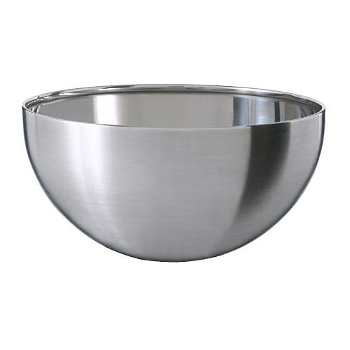 BLANDA BLANK Serving bowl IKEA Space-saving when stored; small sizes can be stacked inside larger sizes in the same series.