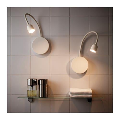 Blvik led wall lamp battery operated white ikea mozeypictures Choice Image