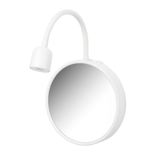 Bl vik led wall lamp with mirror ikea for Ventose ikea
