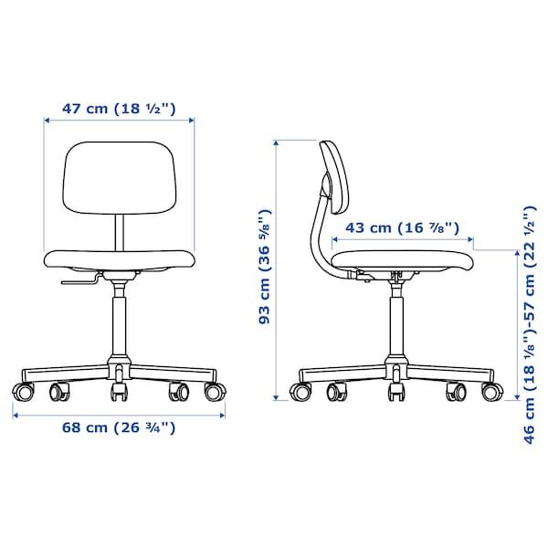 BLECKBERGET Swivel chair, Idekulla dark gray