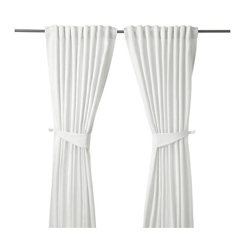 BLEKVIVA Curtains with tie-backs, 1 pair IKEA