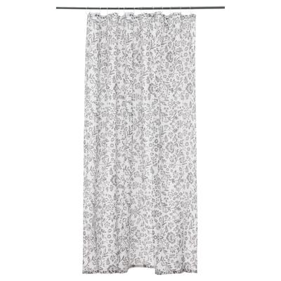 "BLEKVIVA Shower curtain, white/gray, 71x71 """