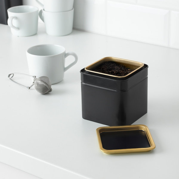 """BLOMNING Coffee/tea canister, 4x4x4 """""""