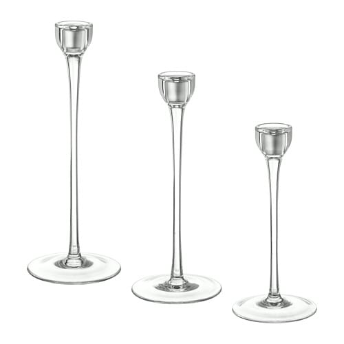 Blomster Candlestick Set Of 3 Ikea