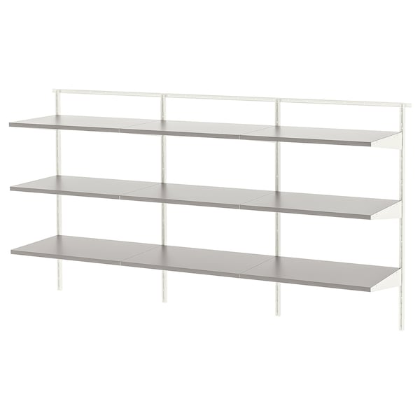 BOAXEL 3 sections, white/gray, 73 3/4x15 3/4x39 5/8 ""