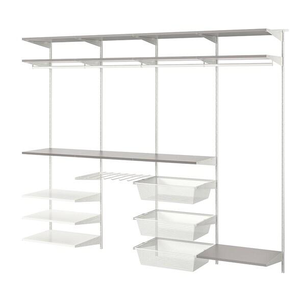 """BOAXEL Wardrobe combination, white/gray, 98 1/4x15 3/4x79 """""""