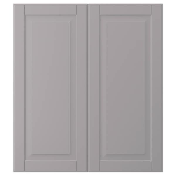 "BODBYN 2-p door/corner base cabinet set, gray, 13x30 """