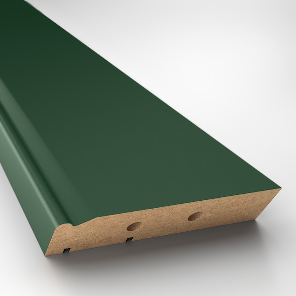 "BODBYN Decorative toekick, dark green, 87x4 """