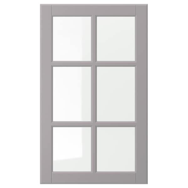"BODBYN Glass door, gray, 18x30 """