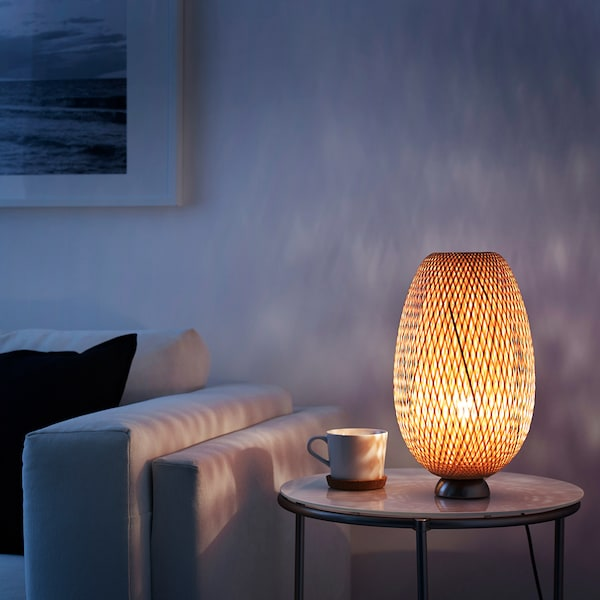 Led Bulb Nickel Plated Bamboo