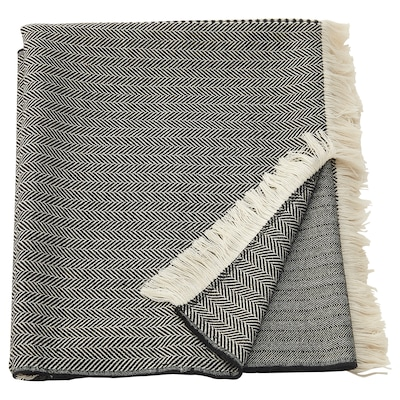 "BÖJMAL throw gray/white 67 "" 51 """