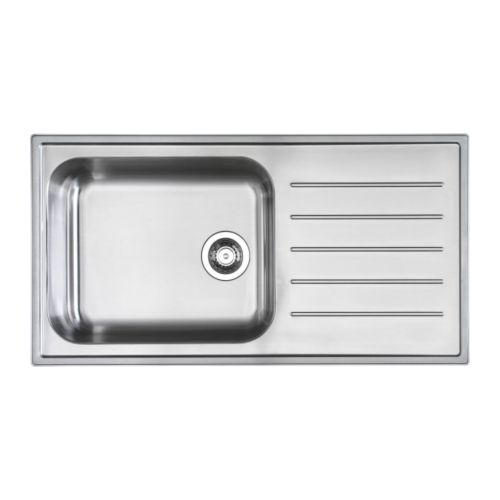 looking for stainless sink with integrated drainboard