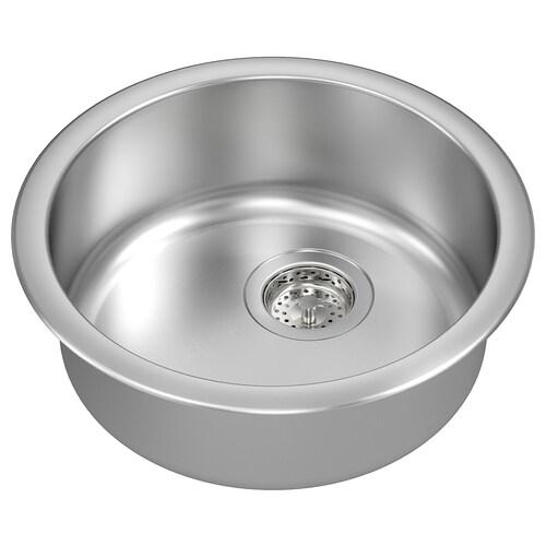 "BOHOLMEN sink stainless steel 5 7/8 "" 17 3/4 """