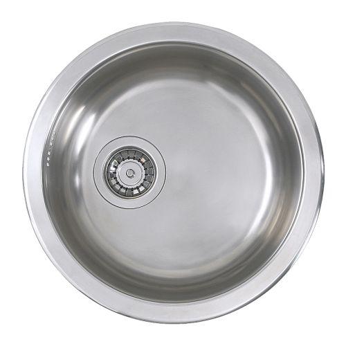 BOHOLMEN Single-bowl inset sink , stainless steel Length: 17 3/4