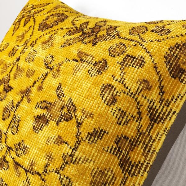 "BOKARV Cushion cover, yellow, 20x20 """
