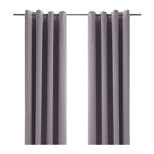 BOLLOLVON Blackout curtains, 1 pair, gray gray 57x98