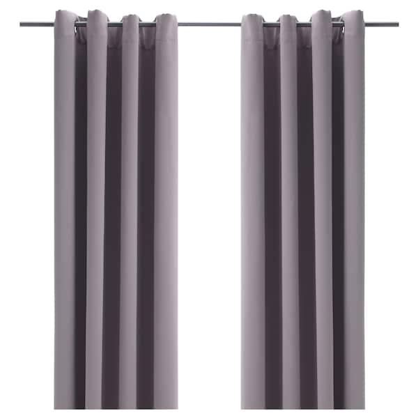 IKEA BOLLOLVON Room darkening curtains, 1 pair