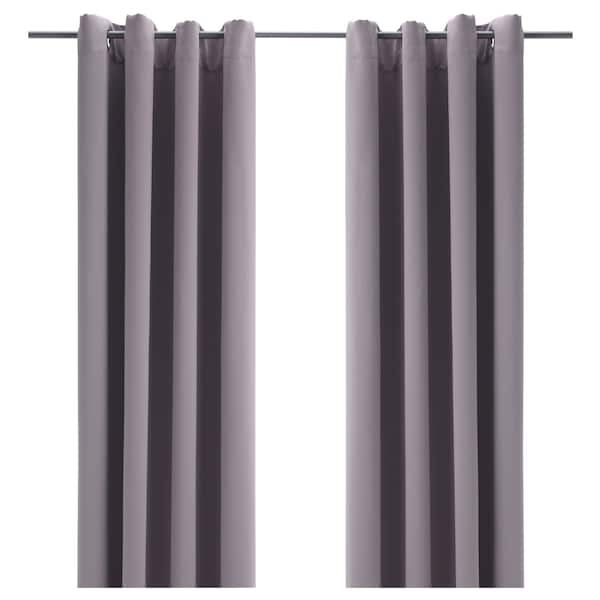 Room Darkening Curtains 1 Pair Bollolvon Gray