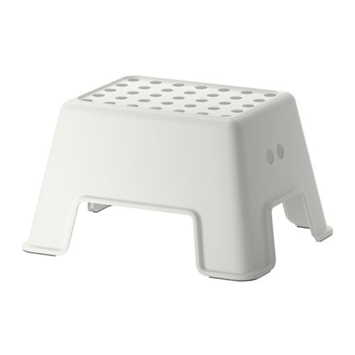 BOLMEN Step stool IKEA The step stool is tested and approved for a maximum weight capacity of 330 lbs, making it suitable for both children and adults.
