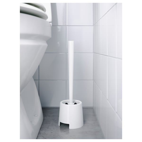 BOLMEN Toilet brush/holder, white