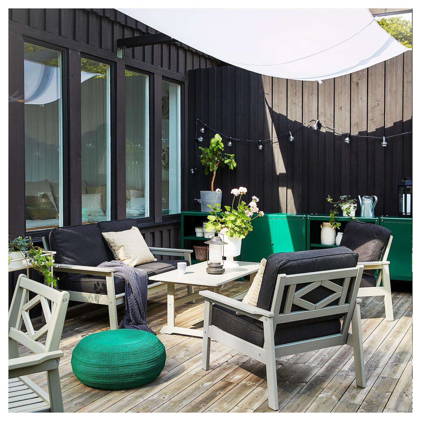 Bondholmen Armchair Outdoor Gray Stained Width 30 3 8 Ikea