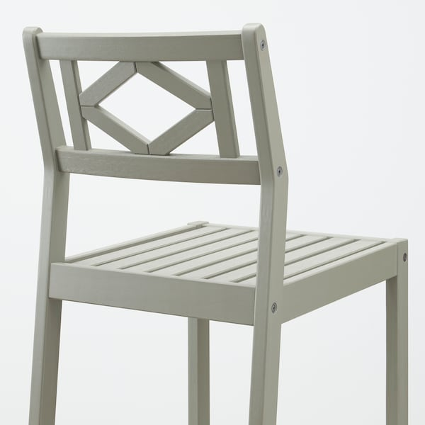 BONDHOLMEN Bar table and 4 bar stools, gray stained/Frösön/Duvholmen beige