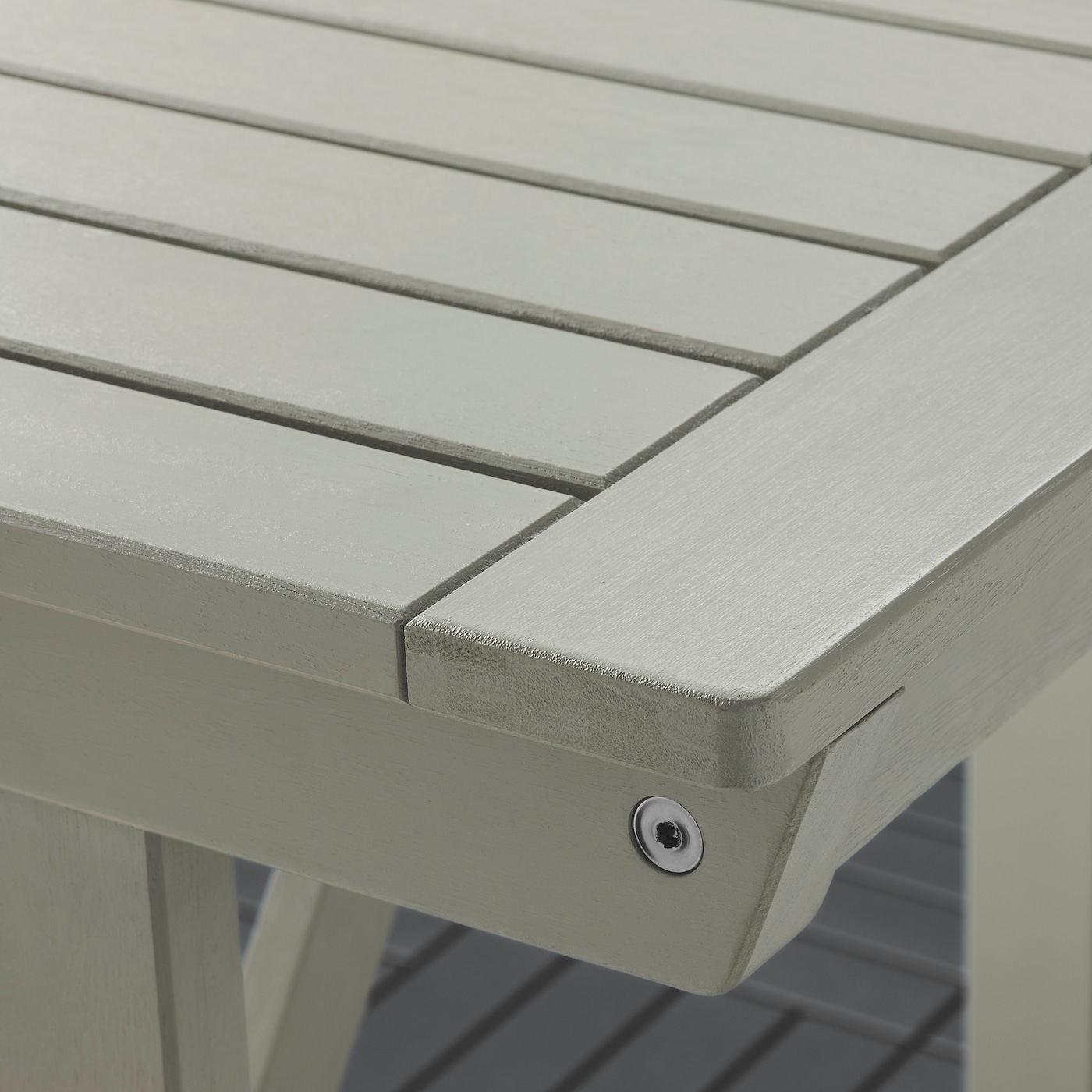 BONDHOLMEN Bar table and 4 bar stools, gray stained/Frösön/Duvholmen dark beige-green