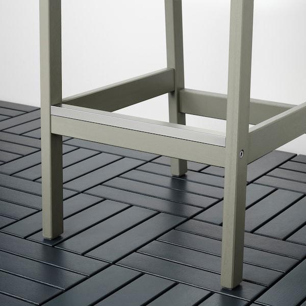 BONDHOLMEN Bar table and 4 bar stools, gray stained/Frösön/Duvholmen dark gray
