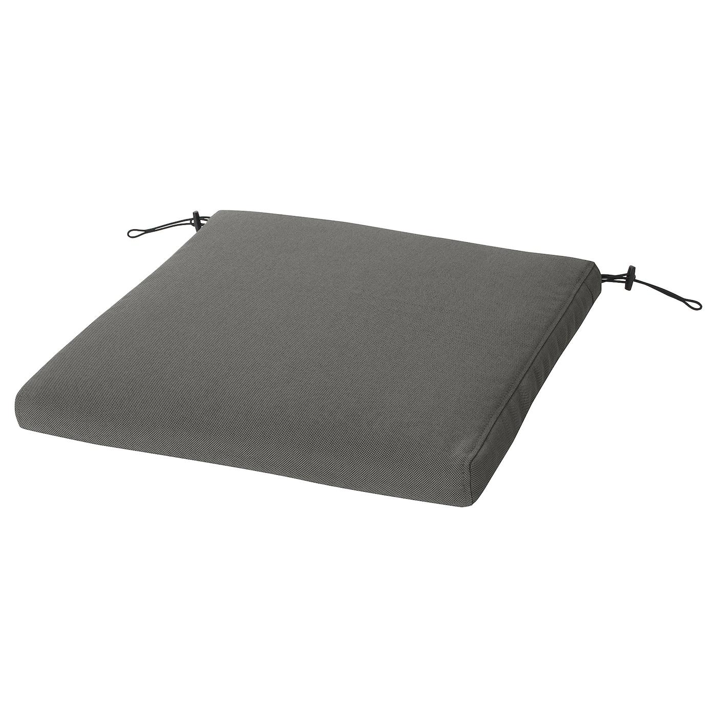 Bondholmen Table 6 Armchairs Outdoor Gray Stained Froson Duvholmen Dark Gray Ikea