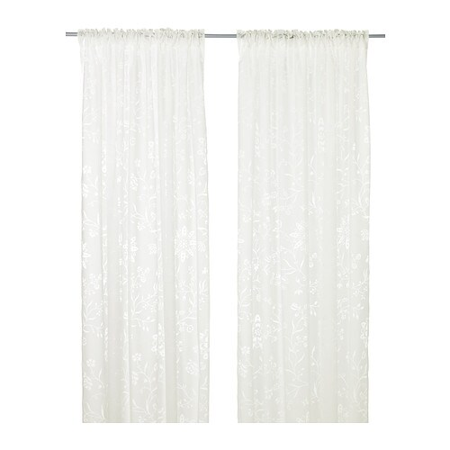 Bedroom Curtains Ikea Uk 4 Bedroom Apartment Layout Bedroom Design With Carpet Blue Victorian Bedroom: BORGHILD Sheer Curtains, 1 Pair