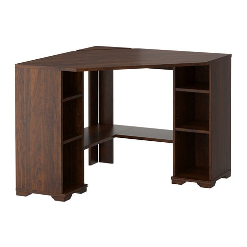 BORGSJÖ Corner desk brown IKEA