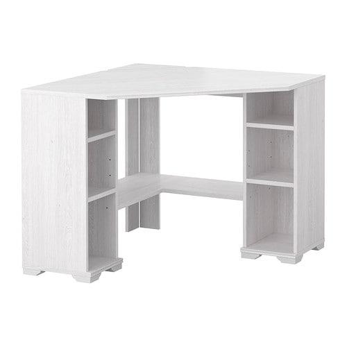 Borgsj corner desk white ikea - Table angle ikea ...