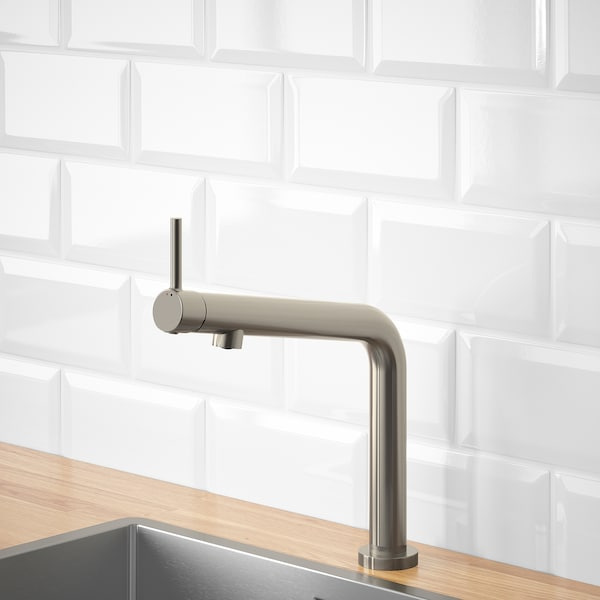BOSJÖN Kitchen faucet, stainless steel color