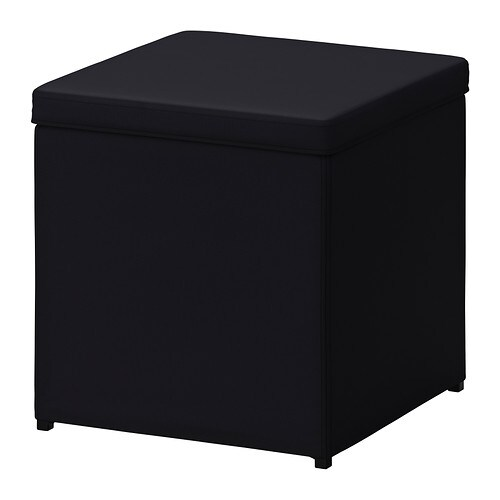 bosn s footstool with storage ransta black ikea