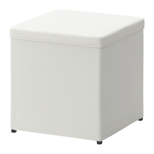 BOSNÄS Ottoman with storage, Ransta white Ransta white