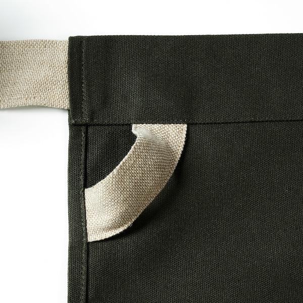 """BOTANISK apron dark green/handmade 18 """" 22 """""""
