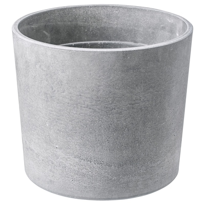 "BOYSENBÄR plant pot indoor/outdoor light gray 6 ¼ "" 7 "" 6 "" 6 ¼ """