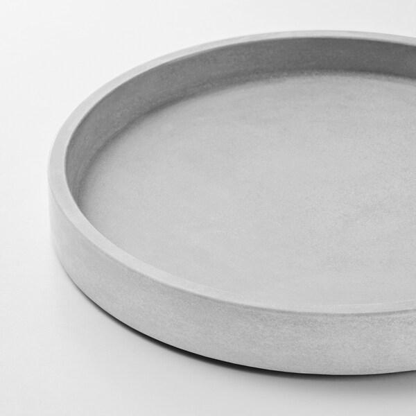 """BOYSENBÄR Saucer, indoor/outdoor light gray, 7 ¼ """""""