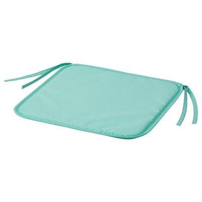"BRÄMÖN Chair pad, light turquoise indoor/outdoor, 13 3/8x13x0 """