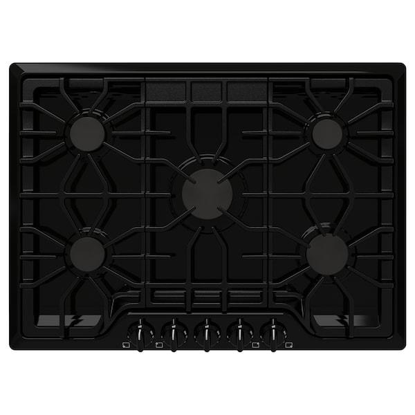 "BRÄNNPUNKT Gas cooktop, black, 30 """