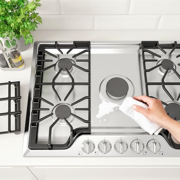 """BRÄNNPUNKT Gas cooktop, Stainless steel, 30 """""""