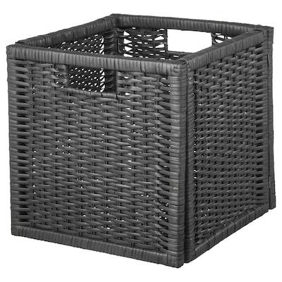 """BRANÄS Basket, dark gray, 12 ½x13 ½x12 ½ """""""